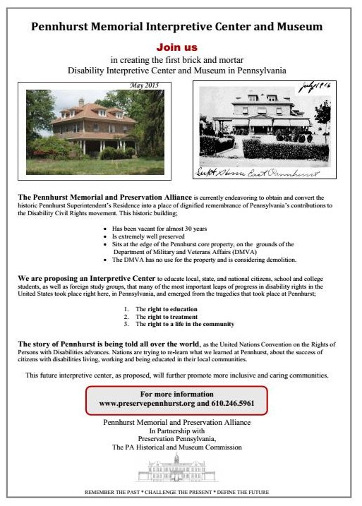Marketing Flyer for Interpretive Center